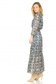 Dante 6 |  Maxi dress with aztec print Bardon | blue  | Picture 5