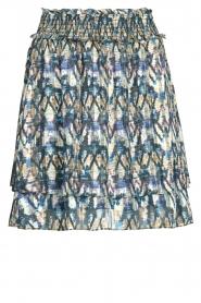 Dante 6 |  Skirt with aztec print Irina | blue  | Picture 1