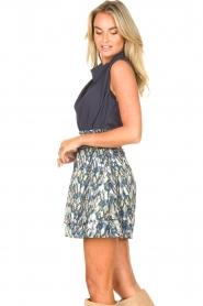 Dante 6 |  Skirt with aztec print Irina | blue  | Picture 5