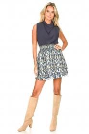 Dante 6 |  Skirt with aztec print Irina | blue  | Picture 4