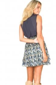 Dante 6 |  Skirt with aztec print Irina | blue  | Picture 6