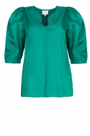 Dante 6 |  Top with puff sleeves Cammie | blue  | Picture 1