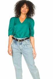 Dante 6 |  Top with puff sleeves Cammie | blue  | Picture 2
