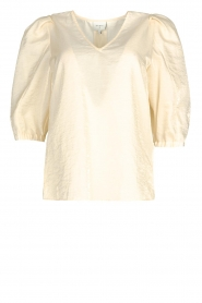 Dante 6 |  Top with puff sleeves Cammie | natural