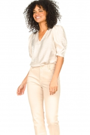 Dante 6 |  Top with puff sleeves Cammie | natural  | Picture 4