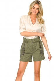 Dante 6 |  Top with puff sleeves Cammie | natural  | Picture 2