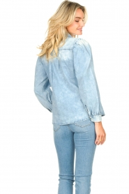 Dante 6 |  Denim blouse with puff sleeves Percey | blauw  | Picture 5