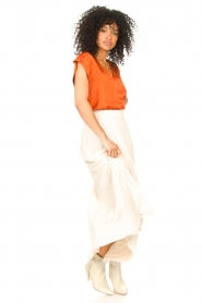 Dante 6 |  Smocked maxi skirt Mahina | natural  | Picture 2