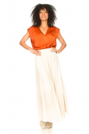 Dante 6 |  Smocked maxi skirt Mahina | natural  | Picture 3