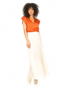 Dante 6 |  Smocked maxi skirt Mahina | natural  | Picture 4