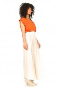 Dante 6 |  Smocked maxi skirt Mahina | natural  | Picture 5
