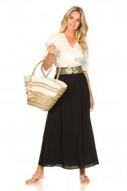 Dante 6 |  Smocked maxi skirt Mahina | black  | Picture 2