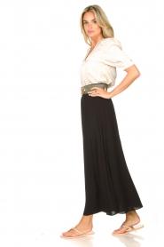 Dante 6 |  Smocked maxi skirt Mahina | black  | Picture 3