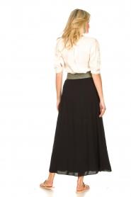 Dante 6 |  Smocked maxi skirt Mahina | black  | Picture 4