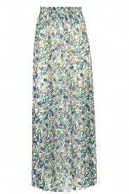 Dante 6 |  Smocked maxi skirt with lurex Armella | blue  | Picture 1