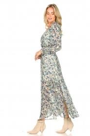 Dante 6 |  Smocked maxi skirt with lurex Armella | blue  | Picture 4