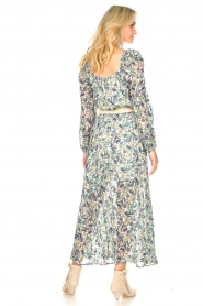 Dante 6 |  Smocked maxi skirt with lurex Armella | blue  | Picture 5