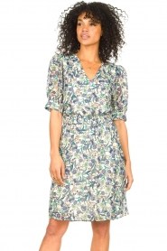 Dante 6 |  Floral dress Oryn | blue  | Picture 4