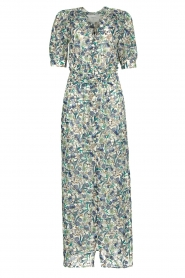 Dante 6 |  Floral maxi dress August | blue  | Picture 1