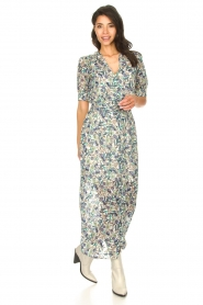 Dante 6 |  Floral maxi dress August | blue  | Picture 3