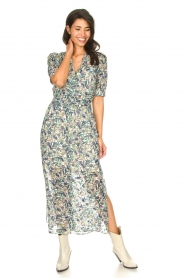 Dante 6 |  Floral maxi dress August | blue  | Picture 4