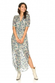 Dante 6 |  Floral maxi dress August | blue  | Picture 5