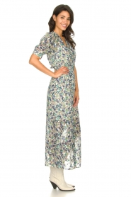 Dante 6 |  Floral maxi dress August | blue  | Picture 6
