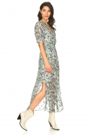 Dante 6 |  Floral maxi dress August | blue  | Picture 2