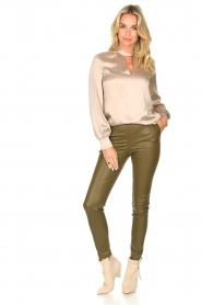 Dante 6 |  Silk blouse Izelle | grey  | Picture 3