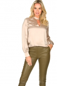Dante 6 |  Silk blouse Izelle | grey  | Picture 2