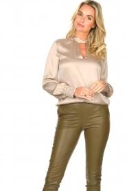 Dante 6 |  Silk blouse Izelle | grey  | Picture 4