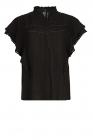 Dante 6 |  Broderie top Justine | black  | Picture 1