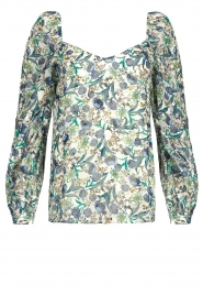 Dante 6 |  Floral top Eloise | blue  | Picture 1