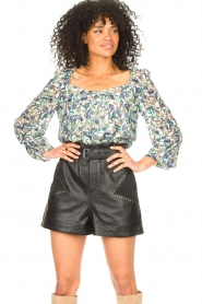 Dante 6 |  Floral top Eloise | blue  | Picture 4