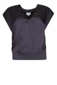 Dante 6 |  Top with crepe effect Saloma | blue  | Picture 1