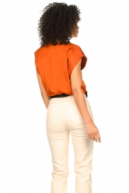 Dante 6 :  Top with crepe effect Saloma | orange - img6