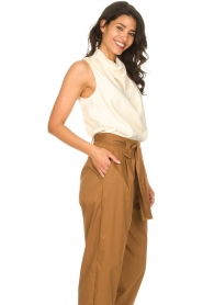 Dante 6 |  Sleeveless top with draped collar Skylin | naturel  | Picture 6