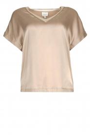 Dante 6 |  Silk stretch top Odette | grey  | Picture 1