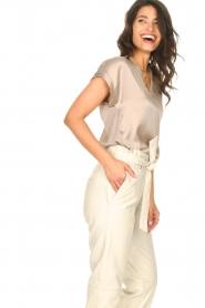 Dante 6 |  Silk stretch top Odette | grey  | Picture 7