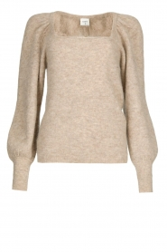 Dante 6 |  Knitted sweater with puff sleeves Alexa | beige  | Picture 1