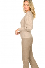 Dante 6 |  Knitted sweater with puff sleeves Alexa | beige  | Picture 6