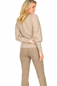 Dante 6 |  Knitted sweater with puff sleeves Alexa | beige  | Picture 7