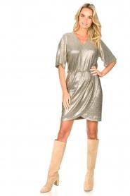 Dante 6 |  Metallic dress Dallas | silver  | Picture 3