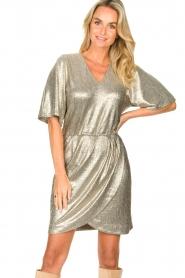 Dante 6 |  Metallic dress Dallas | silver  | Picture 2