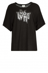 Dante 6 |  T-shirt with text print Rock | black  | Picture 1