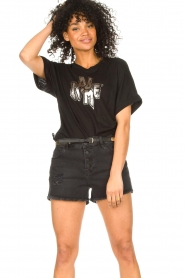 Dante 6 |  T-shirt with text print Rock | black  | Picture 2