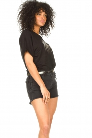 Dante 6 |  T-shirt with text print Rock | black  | Picture 5