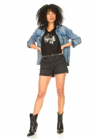 Dante 6 |  T-shirt with text print Rock | black  | Picture 3