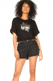 Dante 6 |  T-shirt with text print Rock | black  | Picture 4