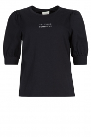 Dante 6 |  Cotton t-shirt with puff sleeves Force | blue  | Picture 1